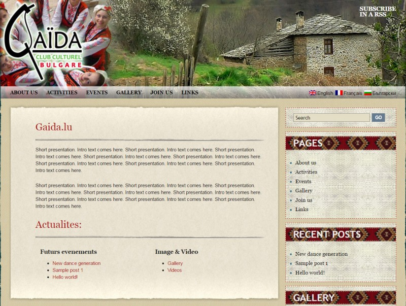 Website design : Gaida - Luxemburg