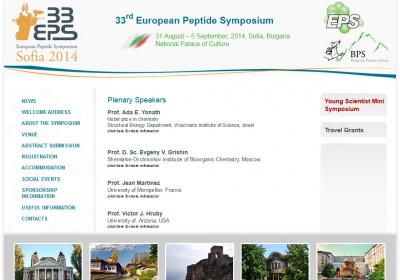 web development - 33rd European Peptide Symposium 2014 - www.33eps2014.com