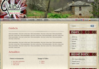 website creation - Gaida - Luxemburg -
